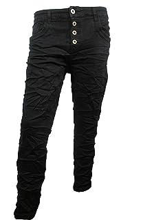 5855 Damen Jeans KAROSTAR by LEXXURY Hose Regularfit Boyfriend Knopfleiste