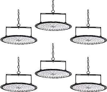2*100W UFO Projecteur LED bapro Projecteur Chantier 10000LM Ultra-Mince IP65 Spot High Bay Lumi/ère 6500K /éclairage datelier Exterieur Interieur Floodlight pour Entrep/ôt Garage Usine Atelier Gymnase