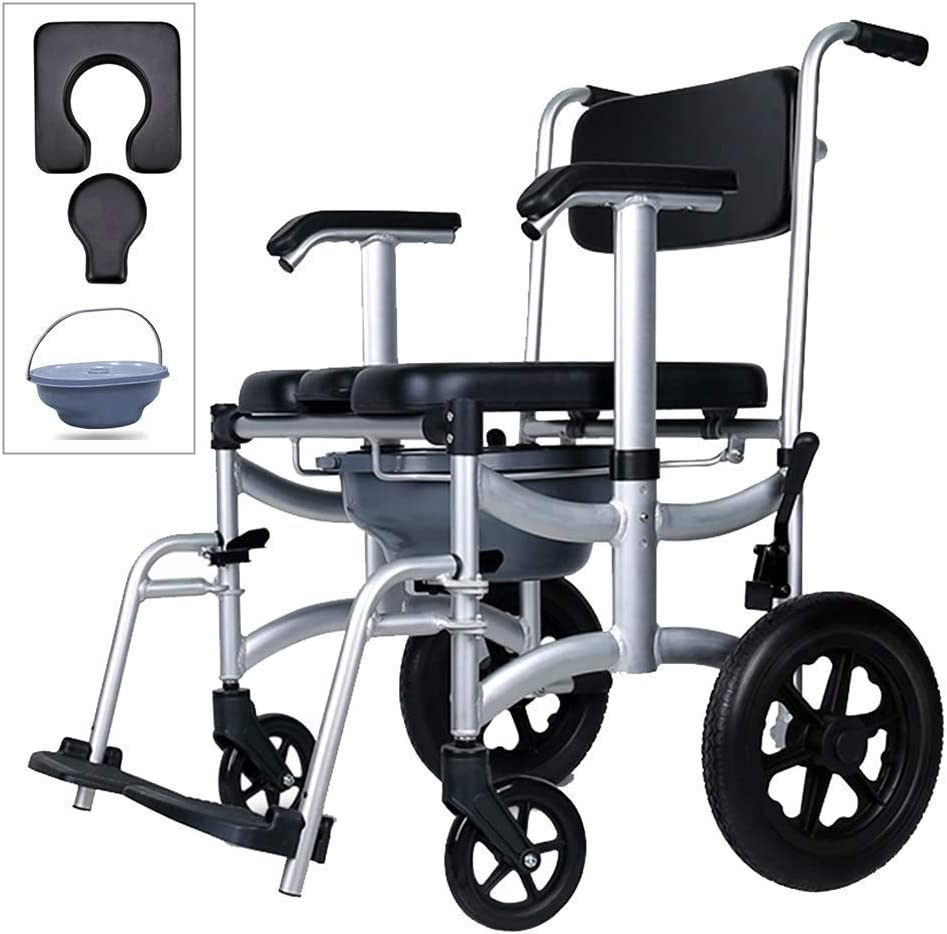 Fenglig Wheelchair Toilet 4 in 1 Chair Shower