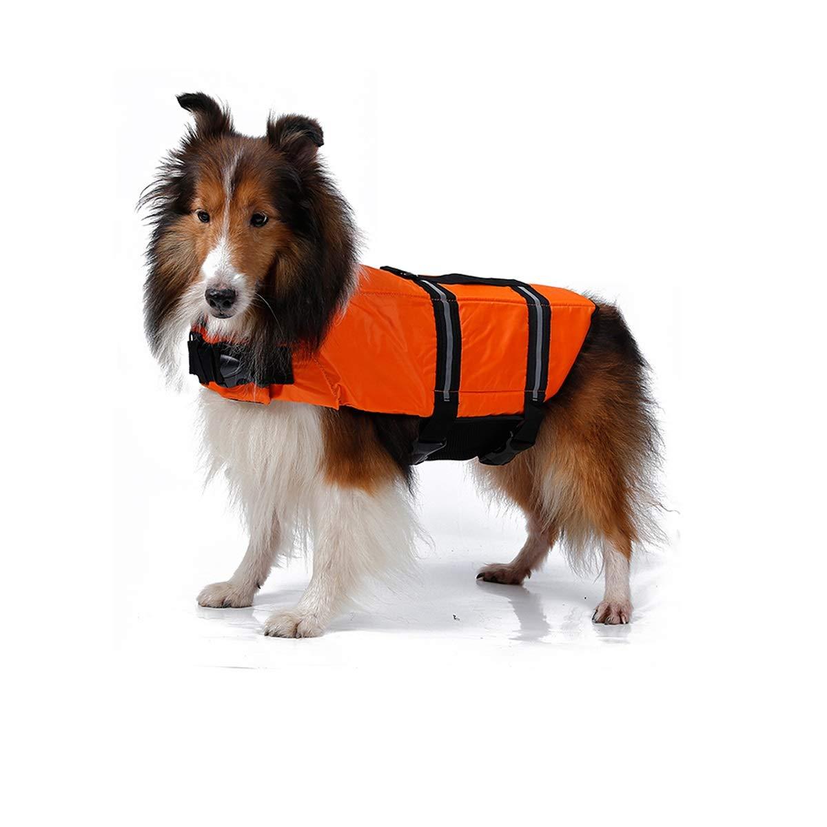 orange M orange M Qingbaotong Pet Life Jackets Dog Swimming Clothes golden Retriever Big Dog Summer Swimming Life Jacket Vest Medium Large Dog Life Jacket You Deserve to Have (color   orange, Size   M)