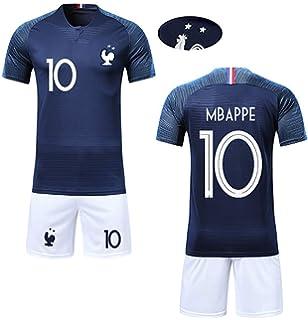 JIAJIA YL Garçon Ensemble de T-Shirt et Short Coupe du Monde France 2  étoiles 2253363aa955