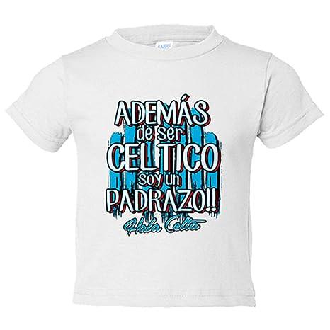 Camiseta niño además de ser Céltico soy un padrazo Vigo fútbol - Blanco, 3-