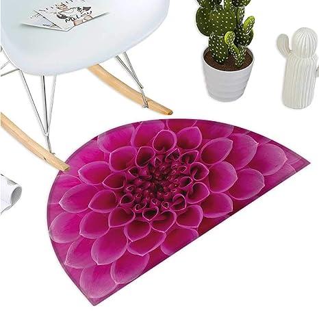 Amazon.com: Cojín semicircular floral con flores circulares ...