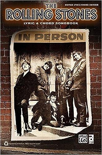 Amazon Rolling Stones Lyric Chord Songbook 9780739084045