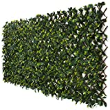 3rd Street Inn Laurel Leaf Trellis 4-Pack - Bamboo Greenery Panel - Boxwood and Ivy Privacy Fence Substitute - DIY Flexible Fencing (Laurel)