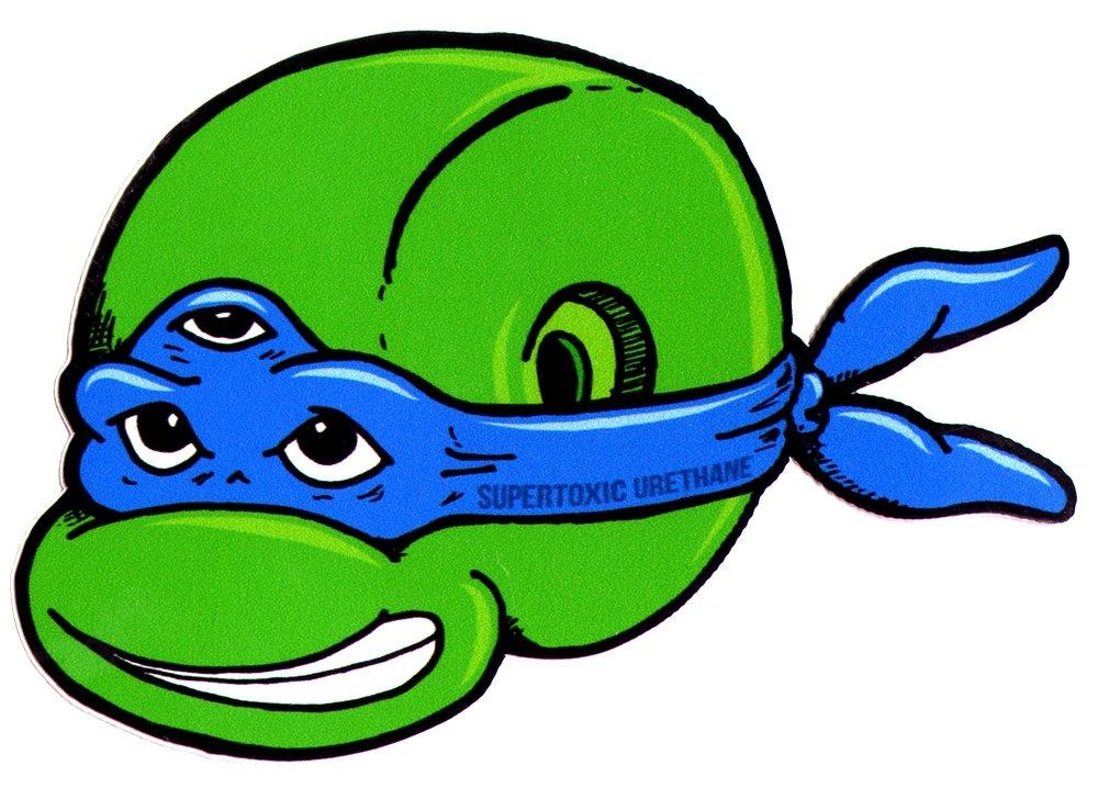 Super tóxico uretano - tortugas Ninja azul pegatina para ...