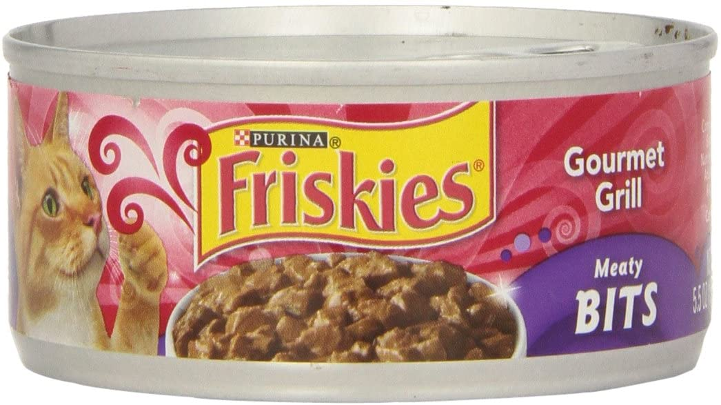 Purina Friskies Meaty Bits Gourmet Grill in Gravy Adult Wet Cat Food - (24) 5.5 oz. Cans
