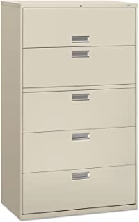 product image for HON 695LQ 600 Series Five-Drawer Lateral File, 42w x 19-1/4d, Light Gray