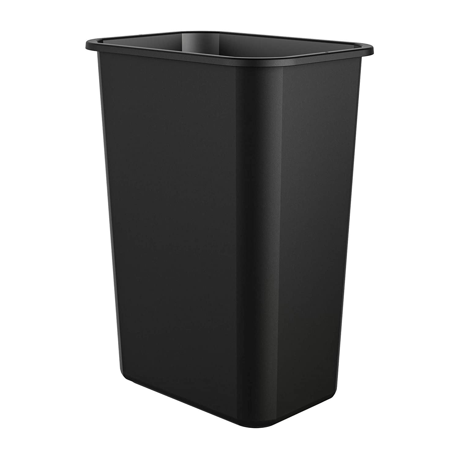 AmazonCommercial 10 Gallon Commercial Waste Basket, Black, 1-Pack