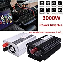 3000w Car Power Inverter Dc12v To Ac220v Dual Usb Charger Converter Inverter Nel Attractive Appearance Solarenergie