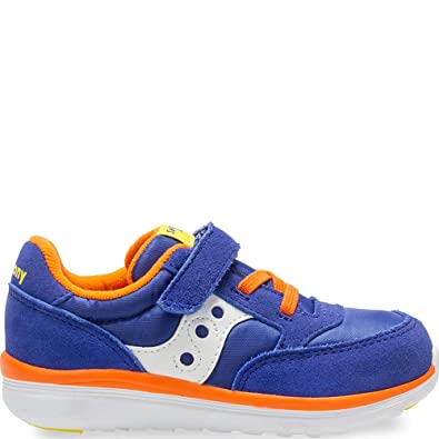 d31c464759bd18 Saucony Baby Jazz Lite Sneaker, Blue/Multi, 075 Wide US Toddler