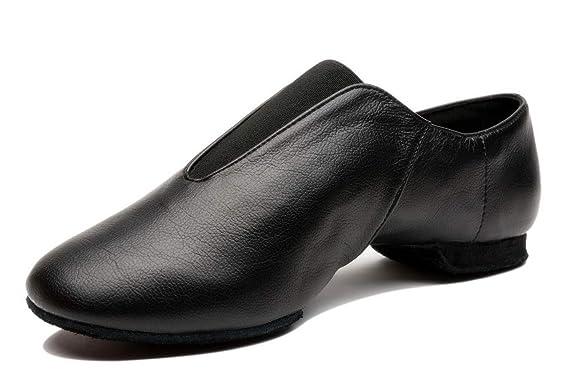 Mrsdressshop Unisex Leather Upper Jazz Ballets Shoe Slip-on for Adults,Wo.. New