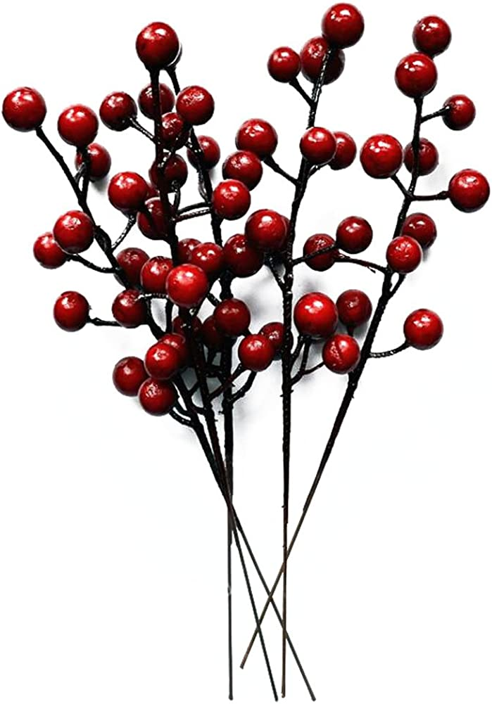 erioctry Pack of 10 Christmas Decor Crabapple Decorated Wreath Garland Xmas Tree Decorations New Years Holiday Festive Party Shopping Malls Dress Up
