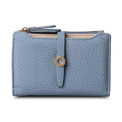 Amazon.com: Latest Leather Short Women Wallet Fashion Girls Change Clasp Purse Money Coin Card Holders Wallets Carteras Blue