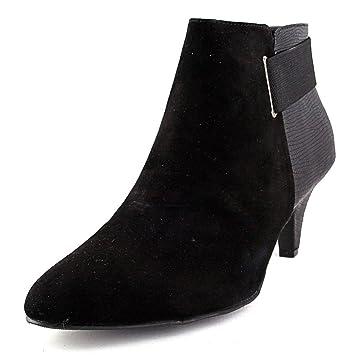 Womens Vandela Leather Closed Toe Ankle Platform Boots