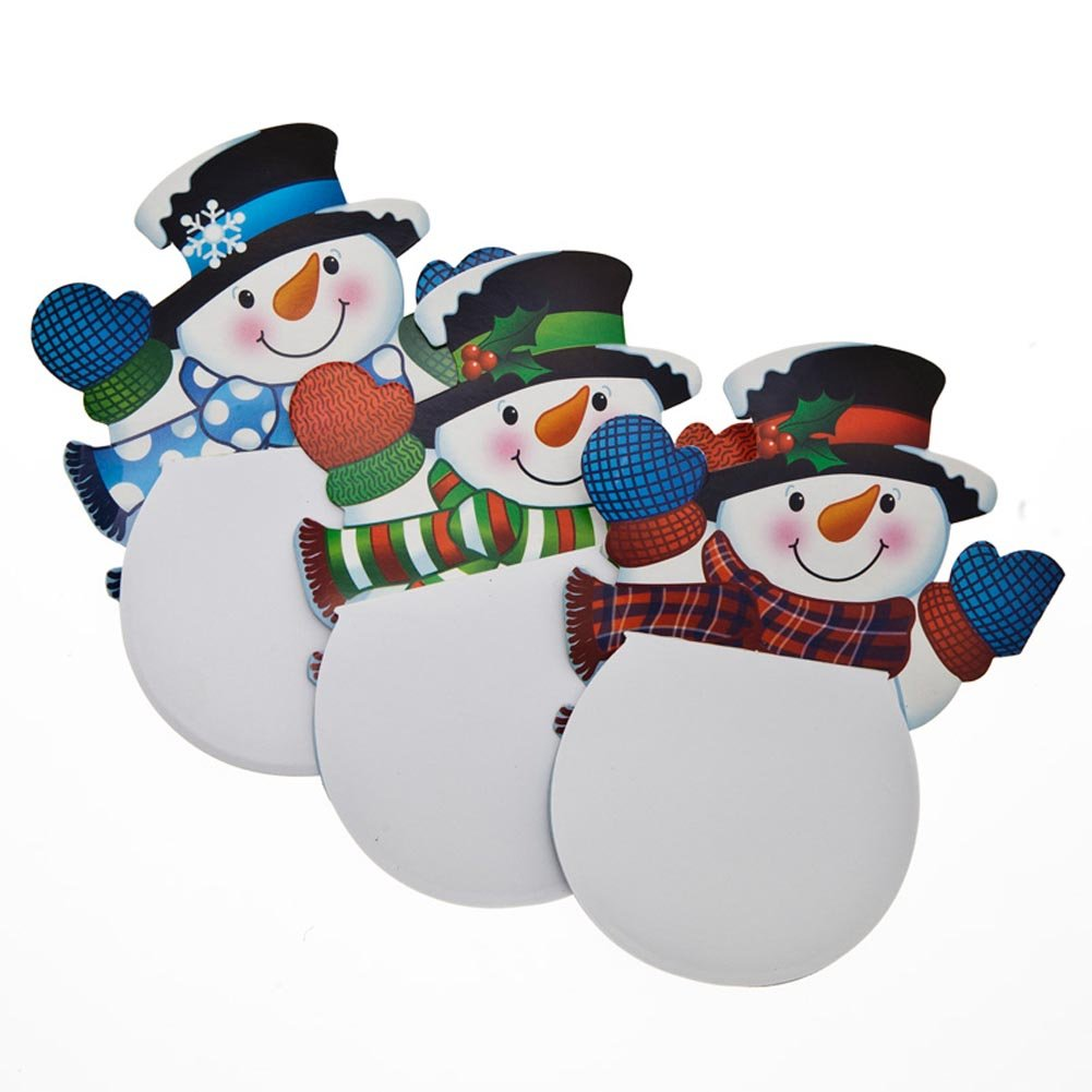 """Waving Snowman Notepads (24 Pack) Paper. 4"""" X 6"""" 35 Pages."""