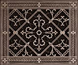 """Decorative Grille, Vent Cover, or Return Register. Made of Urethane Resin to fit over a 8''x10'' duct or opening. Total size of vent is 10""""x12''x3/8'', for wall and ceiling grilles (not for floor use)."""