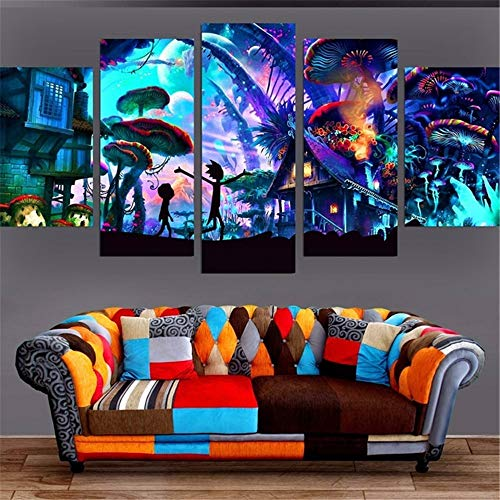 Hot Sale!DEESEE(TM)Canvas Painting 5 Pieces Poster Picture For