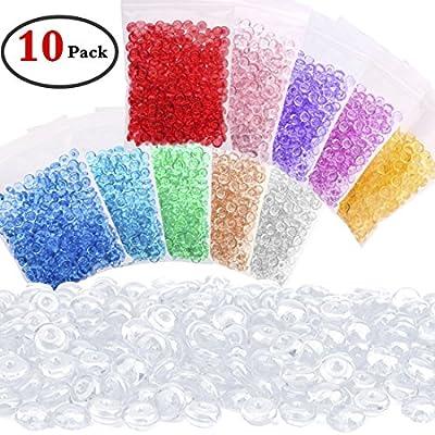 keneer 10 Pack perlas de Pecera – DIY para crujientes Slime, claro jarrón para cuentas, manualidades infantiles para decoración para fiesta o boda (plástico ...