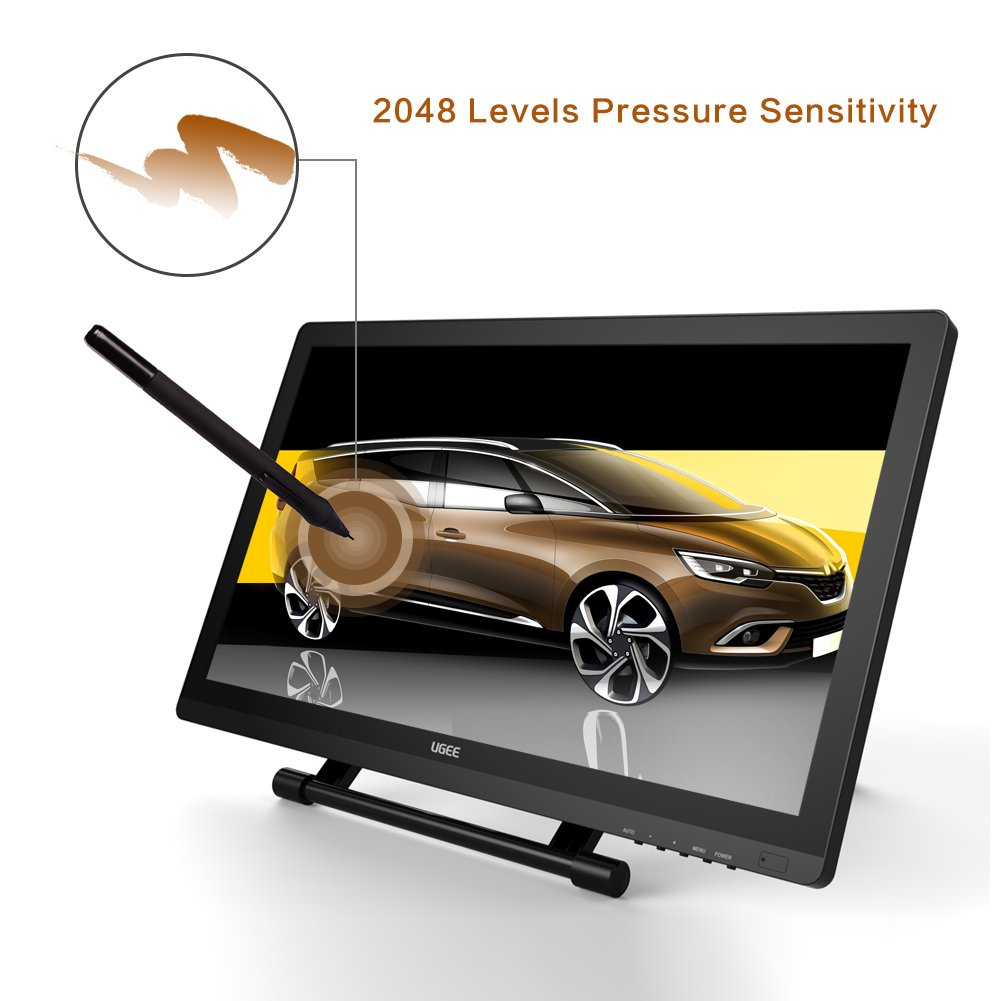 Ugee UG-2150 21 5 Inches LED Graphics Monitor IPS Pen Display HD Resolution  Drawing Monitor Dual Monitor with Adjustable Stand, 2 Rechargeable Pens, 1