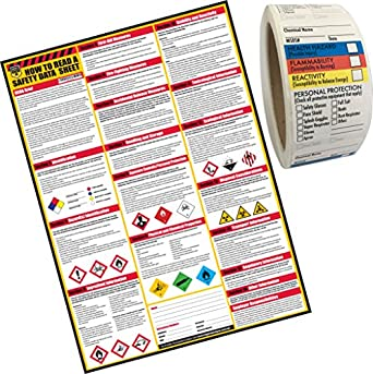 how to read a safety data sheets sds msds poster 24 x 33 inch uv