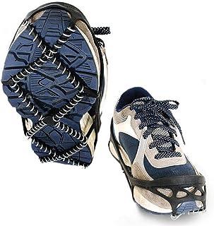 WESEEDOO Crampons antidérapants pour Chaussures à Crampons Anti-dérapants avec chaîne en Acier Inoxydable