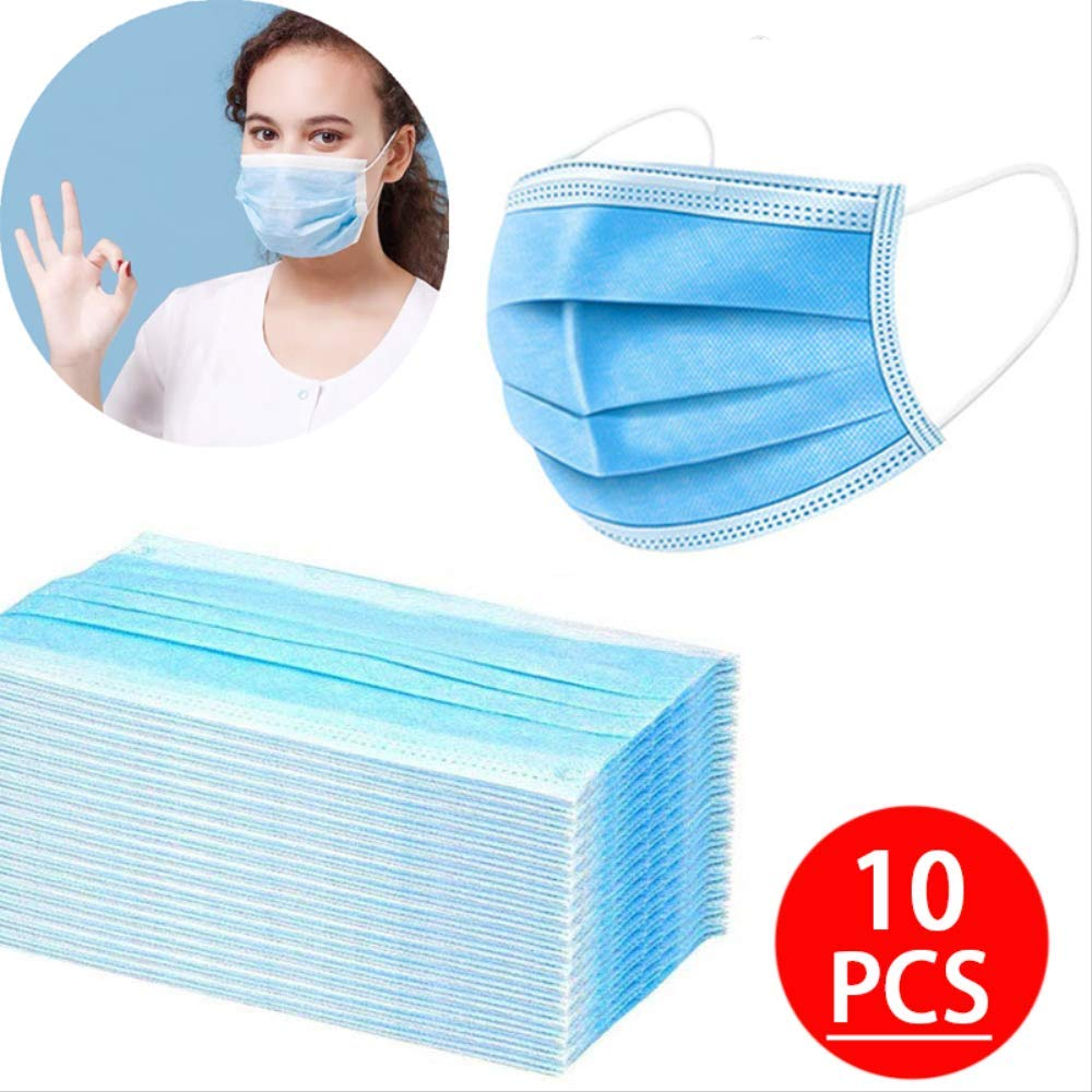 Máscara de polvo no tejida transpirable de 3 capas Máscara de boca desechable engrosada Características Máscaras faciales Filtro de polvo 150PCS
