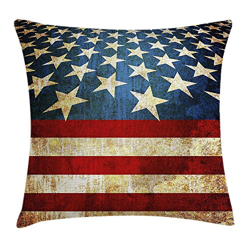 best bags 4th of July Decor Throw Pillow Cushion Cover, Popular American Bald Eagle Portrait Spirit of Country Symbol Artsy Image, Decorative Square Accent Pillow Case, 18X18 Inches, (Bald Eagle Portrait)