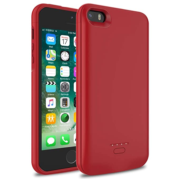 more photos a4518 c7fd8 Amazon.com: iPhone 5/5S/SE Battery Case, Wavypo 4000mAh Upgraded ...