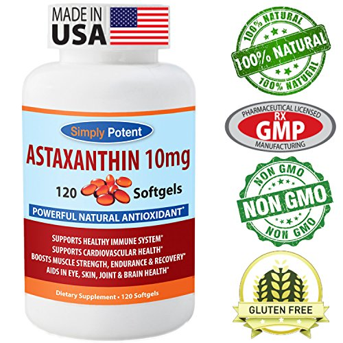 Astaxanthin 10mg Supplement Natural Antioxidant