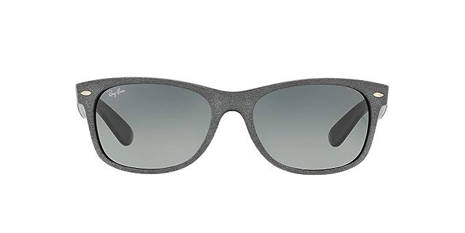 Ray-Ban New Wayfarer gafas de sol, Black/Top Grey Alcantara, 51 ...