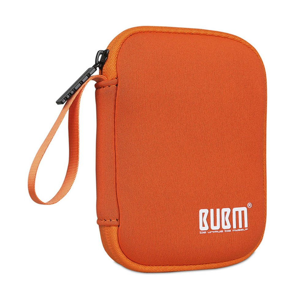 BUBM Enclosure 2.5'' USB 3.0 Hard Drive Bag Power Bank Portable Charge Travel Case, 5.9'', Orange (QYD-S-02)