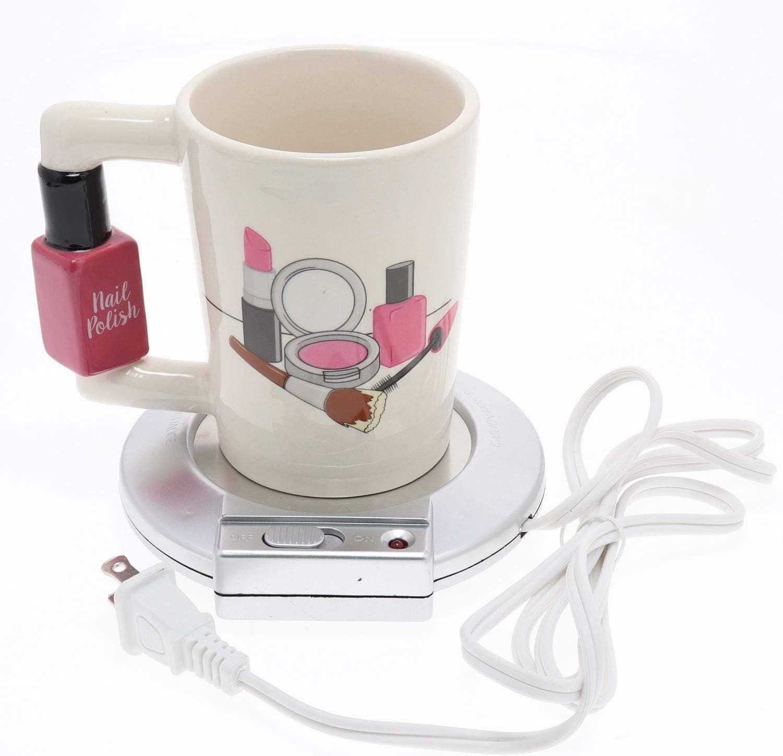Electric Coffee Mug Warmer Tea Milk Cup Beverage Heater Plate Office Home Grey