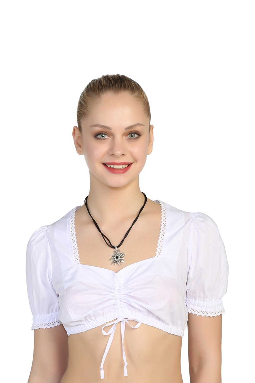 Lukas Trachtenmoden Authentic Bavarian Dirndl Blouse For Dirndl With Ruffles (8)