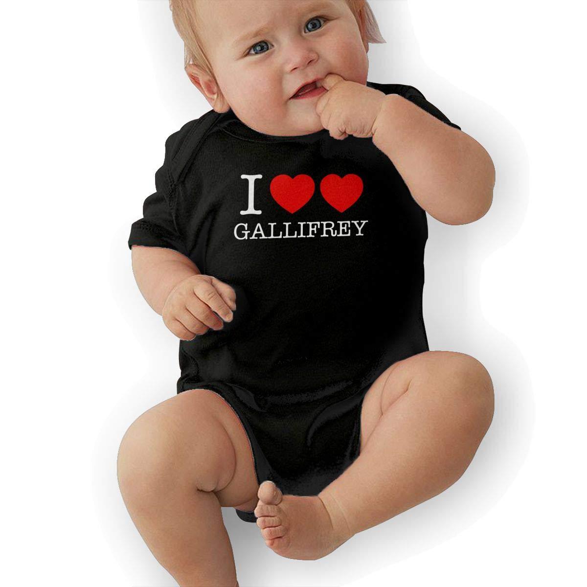 Mri-le2 Newborn Kids Short Sleeve Jumpsuit I Heart Heart Gallifrey-1 Infant Romper Jumpsuit