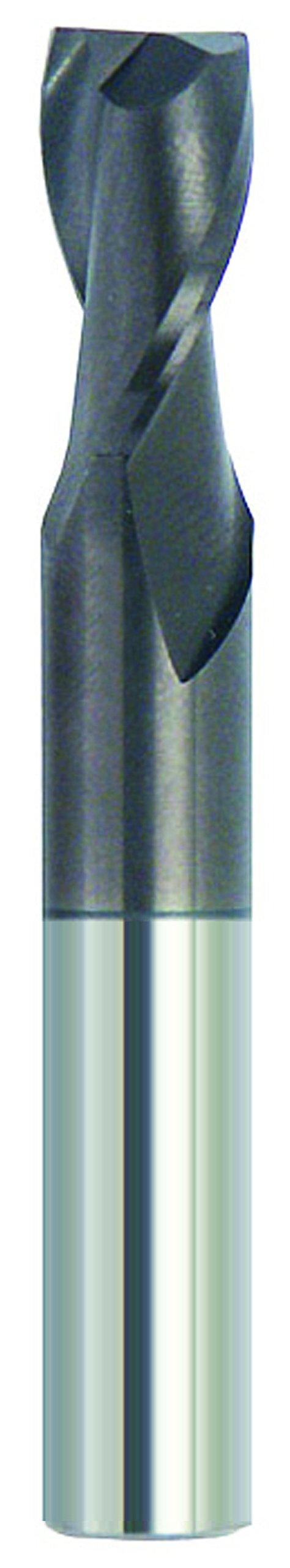 Finecut Tool FT1902032A AlTiN Coated 2-Flute Square USA Made Endmill, 1/4'' DIA, 3/4'' LOC, 1/4'' SH, 2-1/2'' OAL
