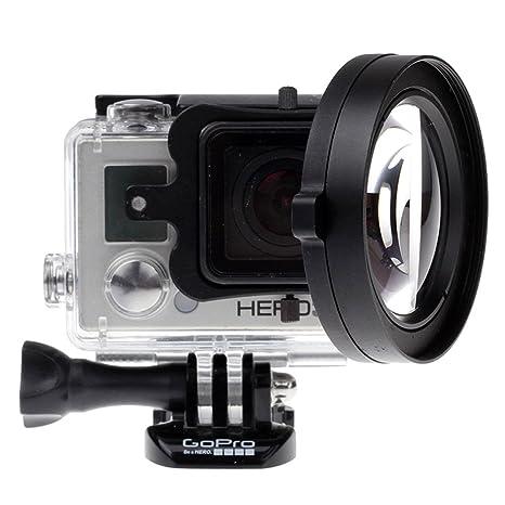 Yingge Lente Macro HD DE 58 mm con Cierre + 16 + Tapa de Lente + Adaptador de Filtro de Lente con Tapa para GoPro Hero 5 4 3 + Carcasa Impermeable