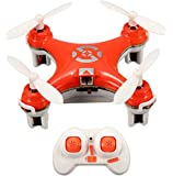 oneCase Cheerson CX-10 29mm 4 Channel 2.4GHz Radio Control RC Mini Quadcopter Helicopter Drone 6-Axis Gyro UFO with LED Flash Light - Orange