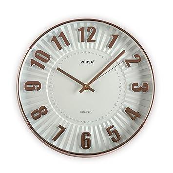 Versa 20550065 Reloj de pared de cocina Blanco y Negro, 30cm diámetro, Redondo: Amazon.es: Hogar