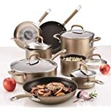 Circulon Premier Professional 13-Piece Hard-Anodized Cookware Set (8 Cooking Vessels and 5 Lids) Induction Base Suitable For