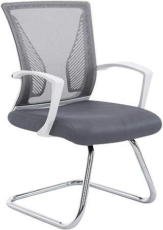 Decoshop26 Fauteuil Chaise De Bureau Sans Roulette Gris Tissu Et Metal Chrome Bur10104 Amazon Fr Cuisine Maison