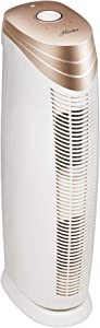 HUNTER HT1701 Air Purifier with ViRo-Silver Pre-Filter and HEPA+ Filter, for Allergies, Germs, Mold, Dust, Pets, Smoke, Pollen, Odors, for Large Rooms, 27-Inch Rose Gold/White Air Cleaner