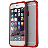 iPhone6 ケース araree HUE Bumper for iPhone6s iPhone6 (BLACK+RED) バンパー 着せ替え アイフォン6s アイフォン6