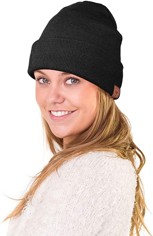 OZERO Beanie Hat Men and Ladies Winter Thermal Hat for Running /& Cycling and Ski