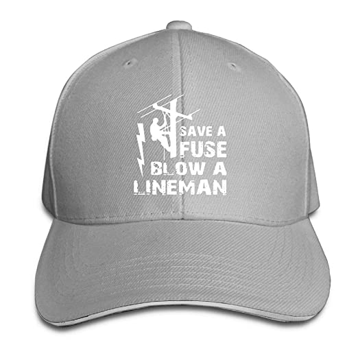 Amazon.com  Lineman Save A Fuse - Blow A Lineman Sandwich Hats Baseball Cap  Hat Snapback Hat Dad Hat  Clothing 4027b781eed