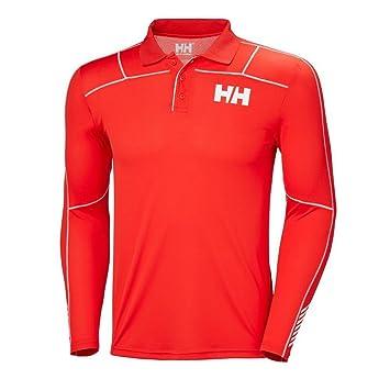 Helly Hansen HH LIFA Active Light LS Polo, Hombre, (Rojo 222 ...