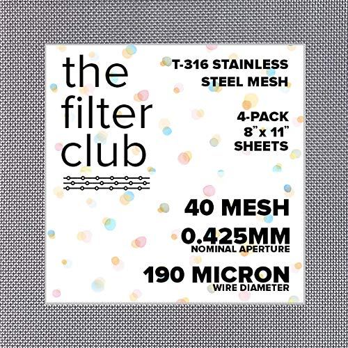 40 Mesh | T-316 Stainless Steel Woven Wire Mesh | 8