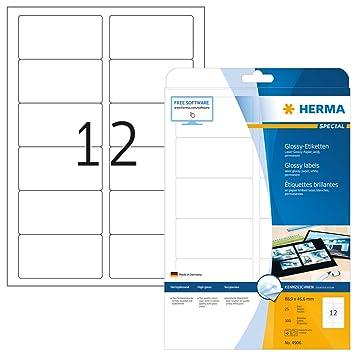 weiá 210x297 mm Papier matt 25 St Herma Etiketten Premium A4