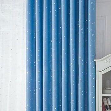 Thermo Vorhang, Mit Ösen Blackout Fenster Hinmay Stars Öse Vorhänge Für  Wohnzimmer Für Wohnzimmer