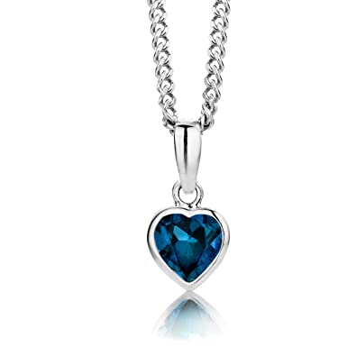 ByJoy Women's 925 Sterling Silver Heart Pendant on 45 cm Chain Necklace D3COrl2FR